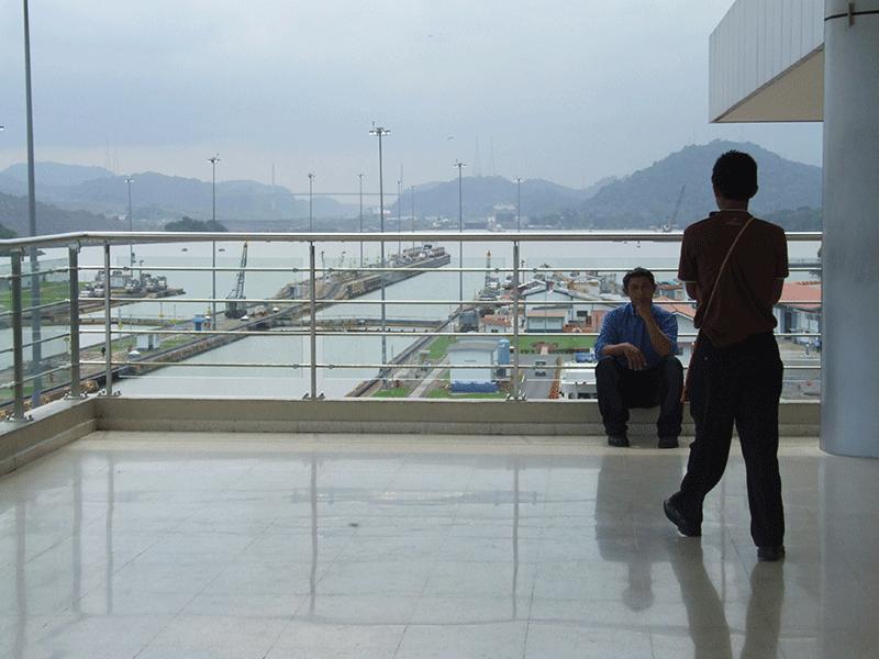 Blick auf den Panama-Kanal