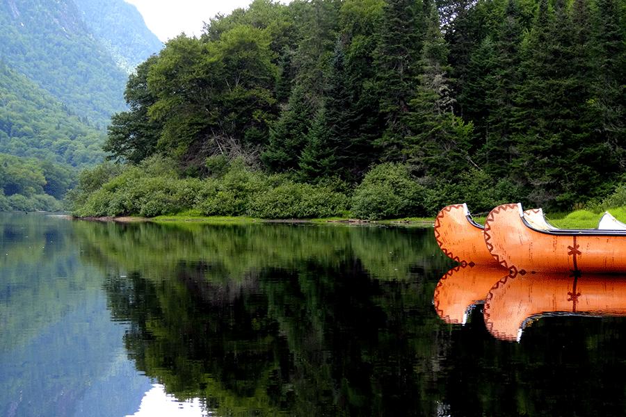 Kanufahrt auf See