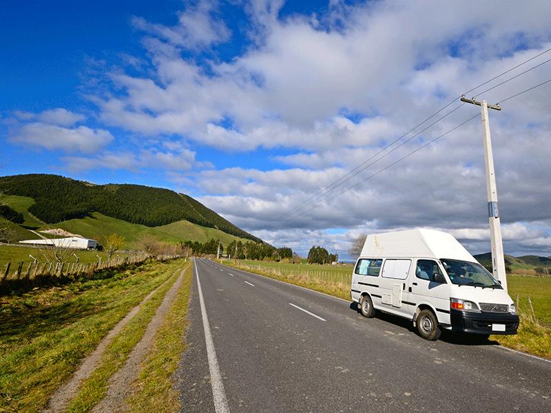 Über´s Land in Neuseeland