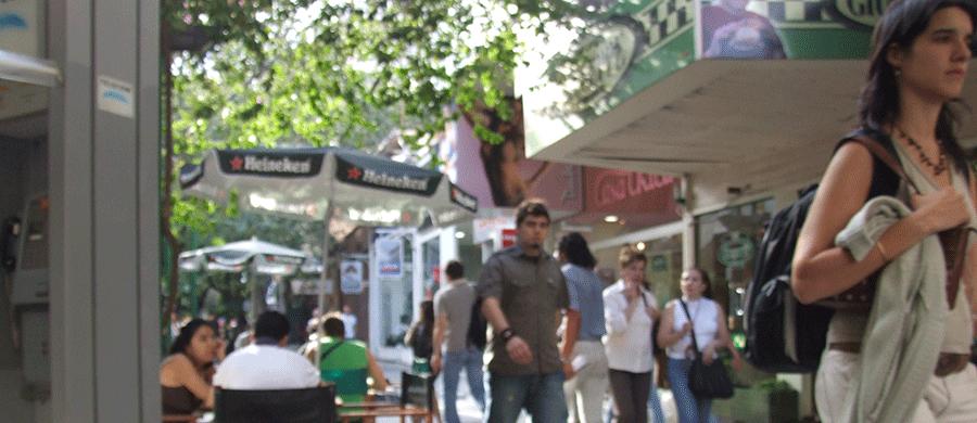 Fussgängerzone in Südamerika