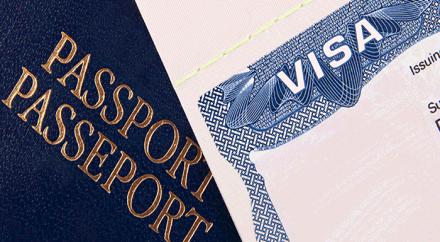 Reisepass und Visum